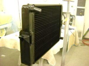 rebuilt vintage Aston Martin radiator
