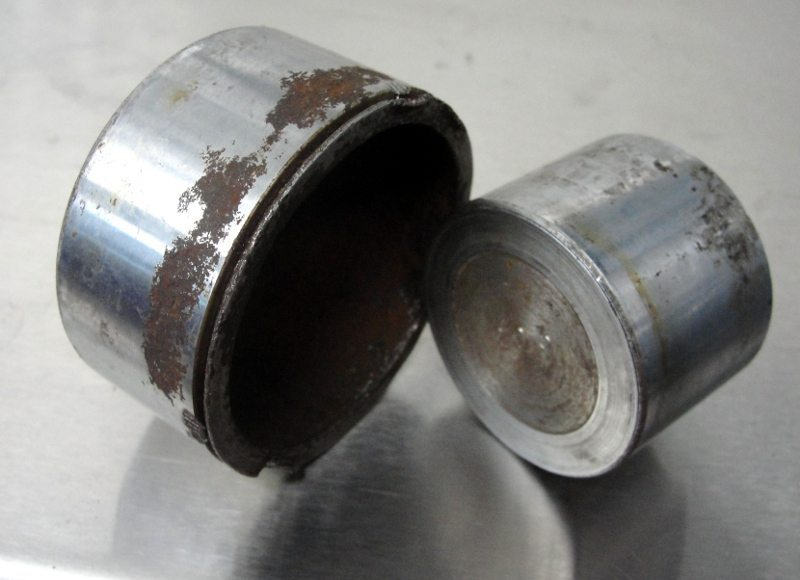 Rusted brake pistons