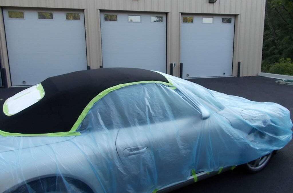 Porsche convertible top waterproofing