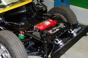 Lamborghini Miura fire suppression system