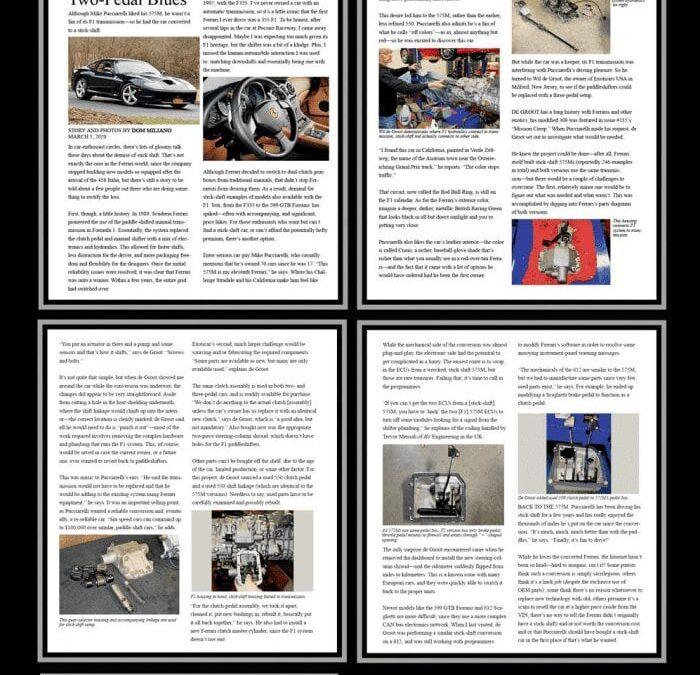 Three Pedal Ferrari 575M article in Forza